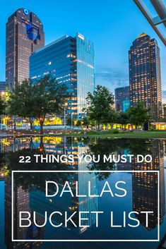 Dallas is a city full of fun things to see and do, incredible food, and people who thoroughly enjoy having a good time. We've prepared the ultimate Dallas bucket list so you don't miss any of this beautiful city's highlights and top attractions. Dallas Travel, Texas Travel, Travel Usa, Beach Travel, Dallas Things To Do, Fun Things, Texas Things, Voyage Au Texas, Viaje A Texas