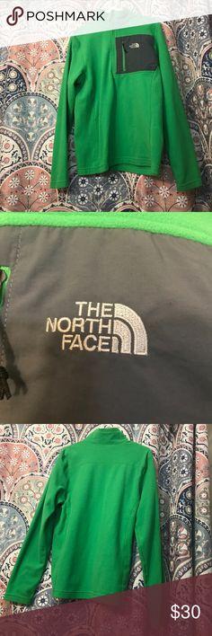 Men's green NorthFace pullover Fleece men's green north face pullover. Worn once. NorthFace Jackets & Coats