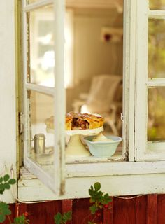 Cooling pie - used to be, when entering a neighborhood, you'd see pies in the window fairly often....
