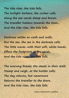 the tide rises and the tide falls