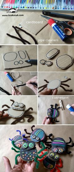 cardboard crafts for home Projects For Kids, Diy For Kids, Crafts For Kids, Diy Projects, Theme Halloween, Halloween Crafts, Fun Crafts, Arts And Crafts, Cardboard Crafts