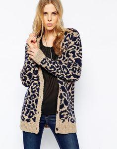 Maison+Scotch+Leopard+Print+Cardigan