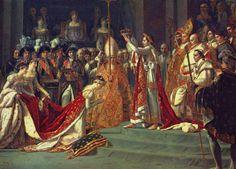 Titel: De kroning van Bonaparte  Kunstenaar: Jacques Louis David  Datum: 1806  Materiaal: Olieverf op doek  Museum: Louvre, Parijs  stroming: Neo-classicisme