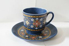 Gorgeous Vintage Winterling Coffee Tea Cup & Saucer Western Germany 60s 70s £4.50