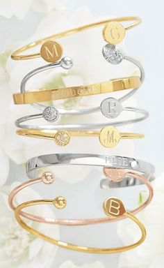 Gorgeous monogrammed/personalized bangles http://rstyle.me/n/uispznyg6