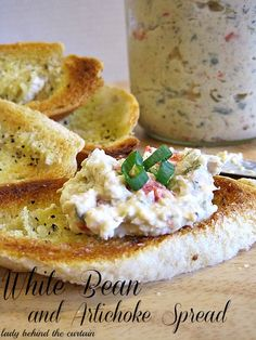 White Bean and Artichoke Spread~T~ This is supper easy to make and so tasty. Make it a day ahead if you like.