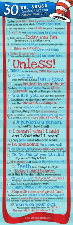30 Dr. Suess quotes that can change your life | #infographic