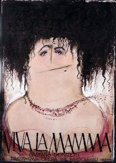 Viva La Mama - Gaetano Donizetti  Original Polish opera poster  designer: Ryszard Kaja  year: 2006  size: B1