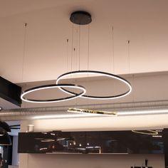 s.LUCE pro LED Hängeleuchte Ring M Ø 60cm Dimmbar Schwarz