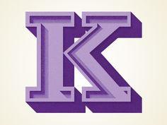 Purple letter K