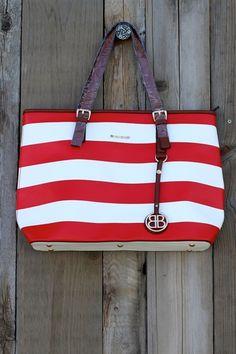 Seaside Red and White Nautical Handbag-$49.99