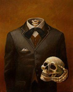 Skeleton Portrait Headless-skull art gothic - Lisa Zador