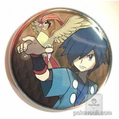 Pokemon Center 2016 Johto Badge Collection Falkner Pidgeotto Large Size Tin Can Badge