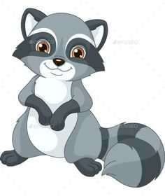 Illustration of cute cartoon raccoon  DIY projects to try