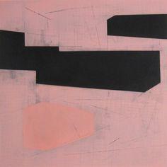 "Steven Baris Rhizome D31 (2012)  oil on Mylar  24x24"""