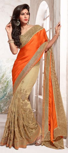 #saree #floral #embroidery #partywear #Colorblock #sequin