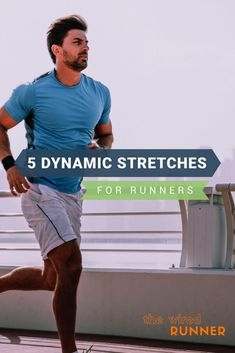 Dynamic stretching is a great way to warm up before working out. It's a low impact start to any type of workout, including running. Here are 5 dynamic stretches to do before your next run. Stretches Before Running, Stretches For Runners, Running Workouts, Running Tips, Trail Running, Runners Stretch, Running Drills, Yoga Workouts, Triathlon Training