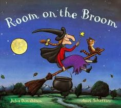 ROOM ON THE BROOM by Julia Donaldson with illustrations by Axel Scheffler. Any time of year! Donaldson is one of the BEST rhyming picture book authors out there and the story is fantastic, too. Halloween Books For Kids, Halloween Pictures, Halloween Crafts, Spooky Halloween, Happy Halloween, Halloween Stories, Halloween Wreaths, Halloween 2014, Halloween Stickers