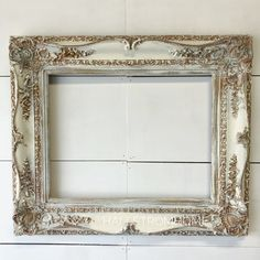 Gold and White Antique French Frame White and gold Antique French country style frame. This would look great in any room! It really adds a nice touch to your shabby chic or French style. French Country Rug, French Country Decorating, French Style, Modern Country, Vintage Country, Shabby Chic Homes, Shabby Chic Decor, Rustic Decor, Farmhouse Decor