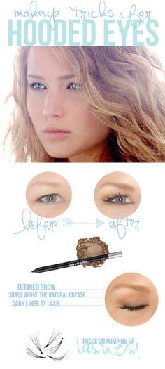 Makeup tricks for hooded eyes.