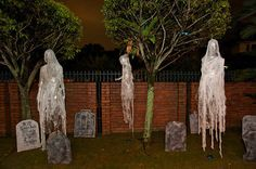 Packing Tape Ghosts in mini graveyard
