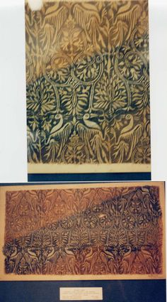 Late 14th century printed fabric, German