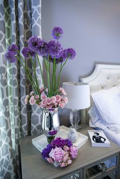 Floral arrangements for the bedroom.