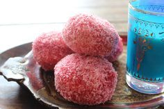 Yudhika Sujanani prepares Snowballs - another trip down memory lane! Snowball Cake Recipe, Donut Recipes, Cake Recipes, Baking Recipes, Dessert Recipes, Lamingtons Recipe, Eid Cake, Pink Food Coloring, Kitchens