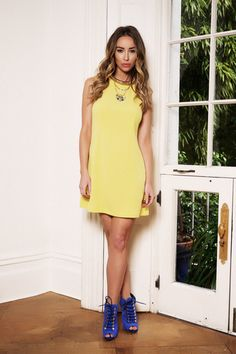 By Lauren Pope Yellow Shift Dress