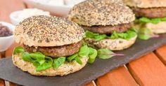 #Hamburger au #boeuf et aux jeunes pousses !
