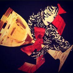 collageczech.com Paper collage,handmade . Moser glass.