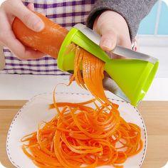 Vegetable Fruit Spiral Shred Process Device Cutter Slicer Peeler Kitchen Tool Slicer julienne cutter black/green