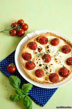 Quiche mit Tomaten und Ziegenkäse