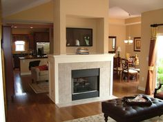 Fireplace Trim, Dining Room Fireplace, Fireplace Ideas, Home Interior Design, House Ideas, Layout, Kitchen, Home Decor, Cooking
