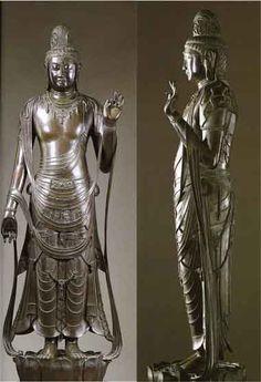 薬師寺 銅造聖観音立像【国宝】 飛鳥時代後期 ♥ Syoukannon Bronze Nara,Yakusiji