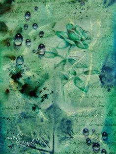 'Mir'acle Art Inspirations: Playing, stamping, coloring.........and first of all enjoying! Using Designs by Ryn: Water Droplets