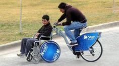 Ya se pueden alquilar bicis adaptadas para personas con discapacidad