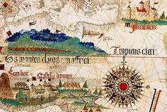 Planisphere Contino 1502 is the earliest survived map showing the opening of the Portuguese sailors in the west and east