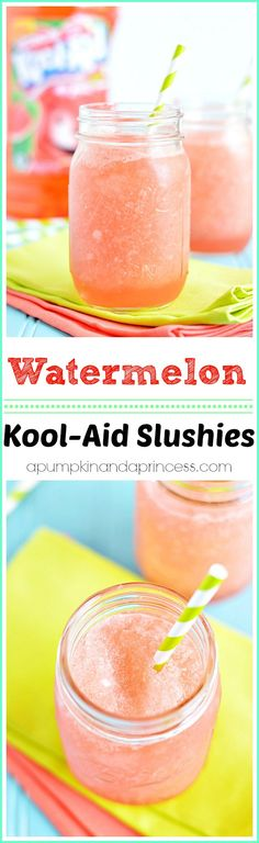 Easy Kool-Aid Watermelon Slushies