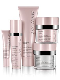 Restore what was lost and lift away the years with this scientifically innovative regimen. TimeWise Repair® Volu-Firm® Set proves it's never too late to help rescue skin from the damage of the past and recapture a vision of youthfulness.   Mary Kay