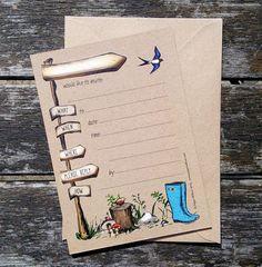 10 or 5 x Woodland invitation woodland от PaperWillowDesign