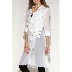 AdoreWe - Trendsgal Turn Down Collar 3 4 Sleeve Solid Color Blouse For Women - AdoreWe.com