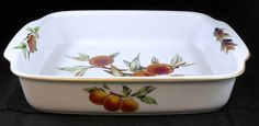 "Royal Worcester EVESHAM GOLD 15 5/8"" Lasagna Dish RARE PIECE GREAT CONDITION #ROYALWORCESTER"