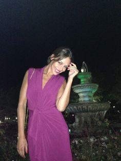 """Eva González - Blog 'Las Tentaciones de Eva' 2012/2013 """"De boda""""  vestido de colour nude http://las-tentaciones-de-eva.blogs.elle.es/2013/09/03/de-boda/ Vestido Colour Nude"""