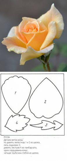 Выкройки для изготовления цветов из ткани | Сайт о рукоделии