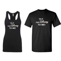 Who has RunDisney spirit? Show your pride with this 'Talk RunDisney To Me' shirt or tank. Registration for RunDisney Wine & Dine Half Marathon Weekend opens March 29th at noon.