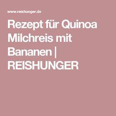 Rezept für Quinoa Milchreis mit Bananen | REISHUNGER