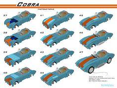 Lego AC Shelby Cobra _lichtblau_ - LEGO Technic and Model Team - Eurobricks Forums Legos, Lego Autos, Lego Cars, Lego Halloween, Lego Speed Champions, Lego System, Lego For Kids, Lego Modular, Lego Room