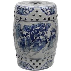 Handmade 18-inch Ladies Blue and White Porcelain Stool (China)   Overstock.com Shopping - The Best Deals on Coffee, Sofa & End Tables