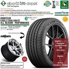 Goodyear EAGLE EXHILARATE All Season Performance Tire 255/50ZR19 XL 107W Rotiform Wheels Goodyear Eagle, Service Map, Performance Tyres, Wheels, Seasons, Seasons Of The Year